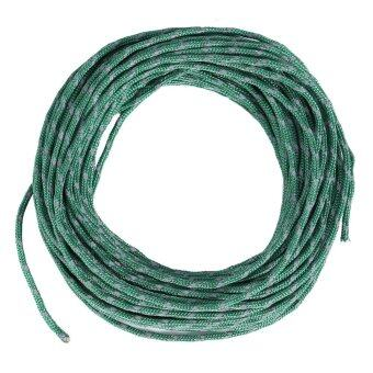 Harga New Reflective String Windproof Camping Tent Rope Awning Guy Line Cord Camping Kits (Dark Green)