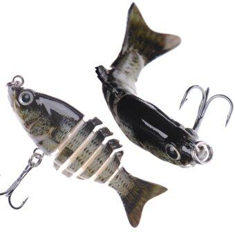 "Harga High Quality 2"" Multi Jointed Fishing Hard Lure Bait Swimbait Life-like Bluegill Sinking Bass"