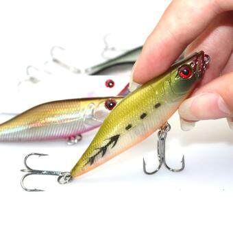 Harga 1pc 7.2g 7cm Fishing Lure Popper Bait Artificial Plastic Hard Baits with Treble Hook