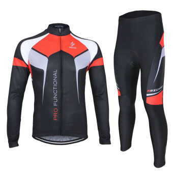 Harga ARSUXEO Spring Autumn Cycling Clothing Set Sportswear Suit Bicycle Bike Outdoor Long Sleeve Jersey Pants Breathable Quick-dry Men