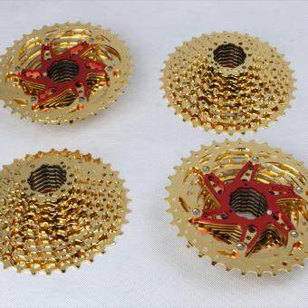 Harga Sunshine 10 SPEED CASSETTE 11-36T gold red (compatible Sram Shimano)