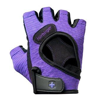 Harga Harbinger Womens FlexFit Weightlifting Gloves with Flexible Cushioned Leather Palm , Purple,