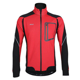 Harga ARSUXEO Winter Warm Thermal Cycling Long Sleeve Jacket Bicycle Clothing Windproof Jersey MTB Mountain Bike Jacket