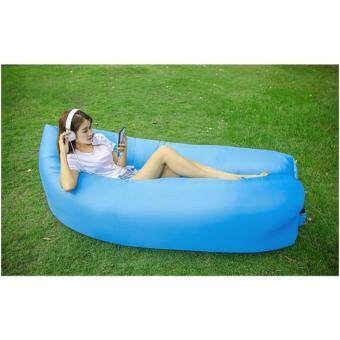 Harga Inflatable Air Sofa Bed Lazy Sleeping Camping Bag Beach Hangout Couch for Travelling, Camping, Beach, Park, Backyard,Waterproof Durable