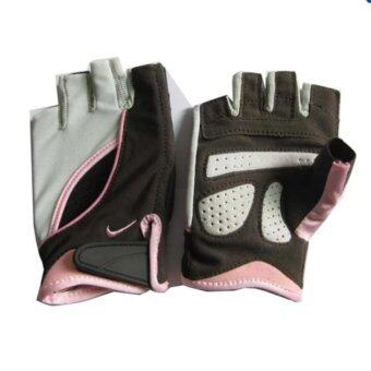 Harga Nike Women's Cardio Fitness Training Gloves Pink (L size)