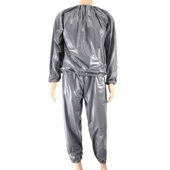Harga Fitness Loss Weight Sweat Suit Sauna Suit Exercise Gym Size XXL Grey