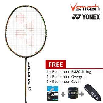 Harga Yonex Duora 10 (3U) Green Orange Badminton Racket Package