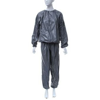 Harga Heavy Duty Sweat Suit Sauna Suit Exercise Gym Fitness Weight Loss Anti-Rip Suit Size:M/L/XL