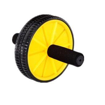 Harga Fitness Double Roller Exercise AB Wheel Fitness Abs Core Abdominal + Free Knee Mat