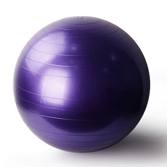Harga 95cm Yoga Gym Fitness Ball Anti Burst Birth Pregnancy Ball Burst Resistance Free Air Pump(Purple)