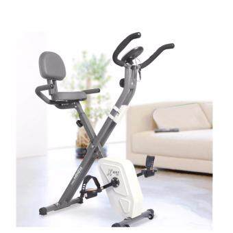 Harga Foldable Magnetic Bike Fitness Gym Bike Magnetic (White)