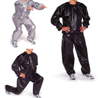 Harga Sports Outdoors Sauna Suits Fitness Loss Weight Sweat Suit Sauna Suit Exercise Gym Size Xl Black