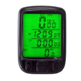 Harga LoveSport Bicycle Bike Cycle Wireless LCD Digital Computer Speedometer Odometer LED Backlight (Black)