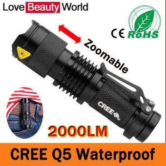 Harga Mini LED Flashlight Waterproof Powerful LED Flashlight Tactical Flashlight 2000 Lumens Zoomable CREE 3 Modes LED Torch Linternas