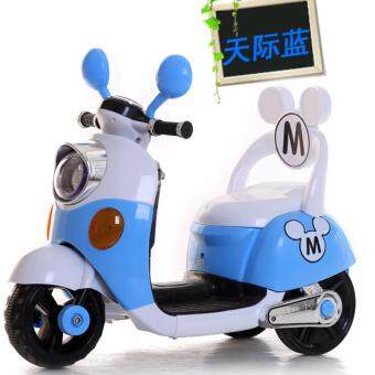 Harga Mickey Mouse Electric Bike / Scooter (BLUE)