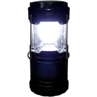 Harga Portable Solar Rechargeable LED Camping Lantern Light/Emergency Lamp with USB Charging (Black)