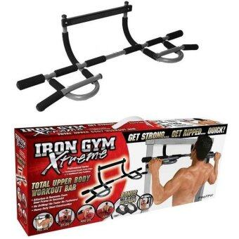 Harga Iron Gym Extreme Total Upper Body Workout Bar Door Gym / Iron Gym Bar(Black)