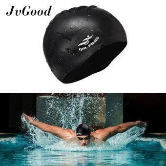 JvGood Silicone Long Hair Swim Cap Waterproof Swimming Cap Hat Unisex for Adult Kids Woman and Men,Keeps Hair Clean Dry