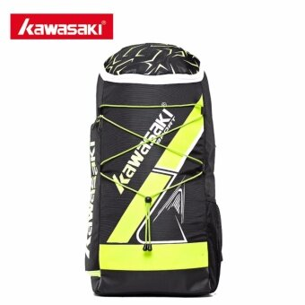 Harga Kawasaki KBB-8230 Badminton Bag Backpack Three Racket Capacity Men Women Badminton Tennis Racket Sports Bags(Black)
