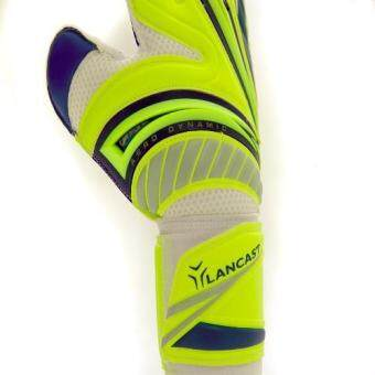 Lancast Goal Keeper Gloves - AERODYNAMIC (YELLOW/Blue (Palm:D.Blue) Size 9 - 4