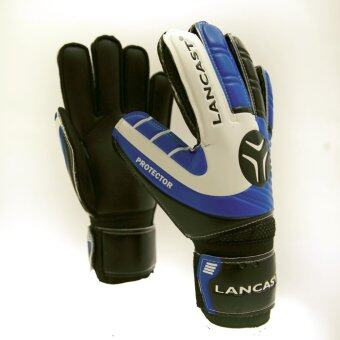 Lancast Goal Keeper Gloves - PROTECTOR (BLUE/BLACK/White) Size 9