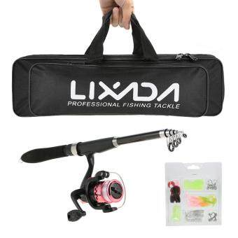 Lixada Professional Fishing Tackle Kit Portable Lure Rod Reel Set with 1.6m Fishing Rod Fishing Reel Fishing Bait Suit Delicate Fishing Bag