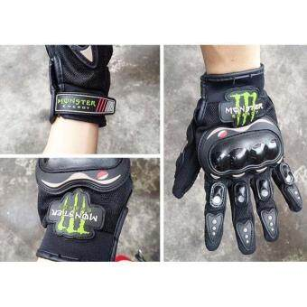 Men Women Motorbike sport Protection Glove /Motor Racing Glove/Motocycle Full Finger Protective Glove(Black)