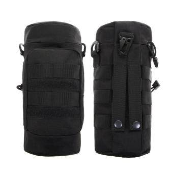 Harga Militray Tactical Molle Zipper Water Bottle Hydration Pouch Bag(Black)