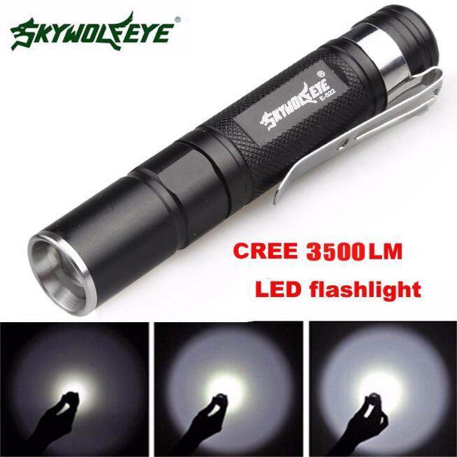 Harga Mini 3500LM Zoomable CREE Q5 LED Flashlight 3 Mode Torch SuperBright Light Lamp