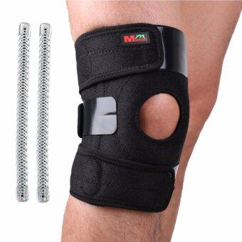 Harga Mumian B01-Non Adjustable Sports Leg Knee Support Brace WrapProtector Pads Sleeve Cap Patella Guard 2 Spring Bars,OneSize,Black-Non-Slip Support Knee