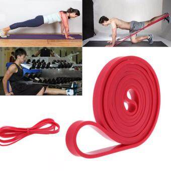 Natural Latex Pull Up Physio Resistance Bands Fitness Crossfit LoopBodybuilding Yoga Exercise Fitness Equipment ( Red )
