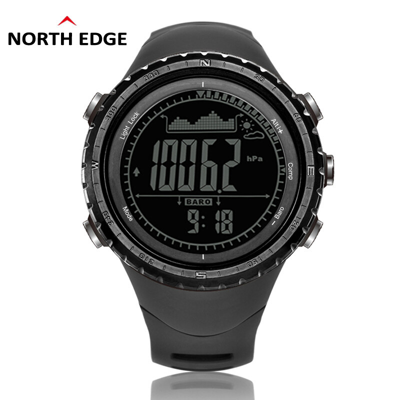 NorthEdge Mens sports Digital-watch with Altimeter Barometer Compass Thermometer Weather Forecast Pedometer Men Digital Watch for outdoor Climbing Hiking Running Swimming Cycling Wristwatch Malaysia