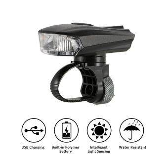 Harga Outdoor Cycling Bicycle Light Smart Sensor Warning Light ShockSensor LED Front Lamp USB Rechargeable MTB Mountain Road Bike NightRiding Light Lamp