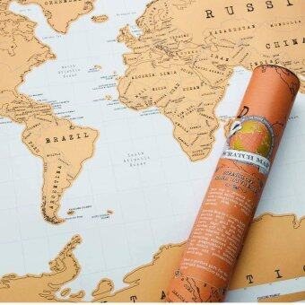 Harga Personalized Scratch Off Map World Map Poster Traveler Vacation LogHot Gift
