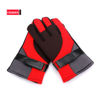 Plus velvet windproof cold mountaineering ski gloves winter gloves
