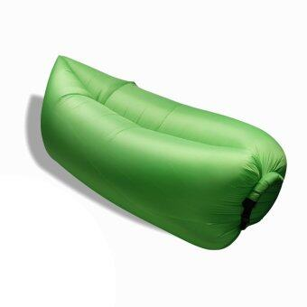 Harga [Ready Stock] Portable Inflatable Wind Hangout Lazy Sleeping BedBag - Green