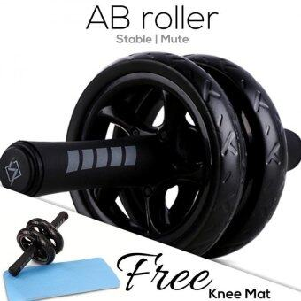 Realeos Advanced Stable Double Wheel AB Roller (Free Knee Mat) -Black