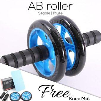 Realeos Advanced Stable Double Wheel AB Roller (Free Knee Mat)(Blue) - R324