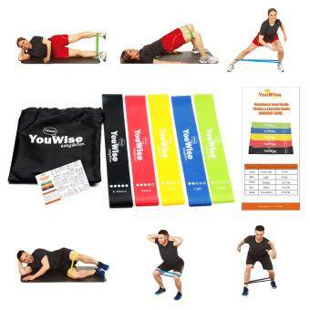 Resistance Loop Bands-YouWise??? Mini Fitness Workout Exercise 5Bands Set with Carry Bag Bonus Instructional eBook