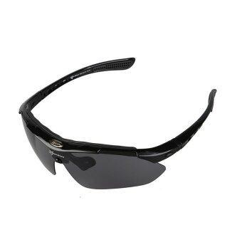 Detail Gambar RockBros Cycling Outdoor Polarized Glasses Sunglasses Goggles 5 Lenses Black(Export) Terbaru