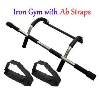 SellinCost Iron Gym with Ab Straps Door Gym Xtreme Extreme TotalUpper Body Workout Chin Up Bar Pull Up Exercise Abs Instant AttachNon-slip Grip