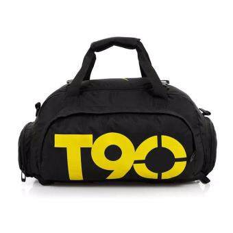 T90 Gym Bag 3 ways Gym Bag Gym Backpack Extra Large Gym Bag with Detachable & Adjustable Strap (Black