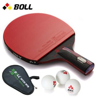 Harga The BOLL pen carbon nano king single shot genuine reverse tabletennis racket
