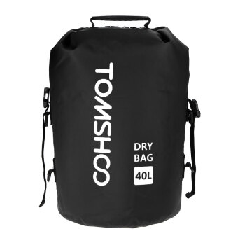 TOMSHOO 40L Outdoor Water-Resistant Dry Bag Sack Storage Bag Black