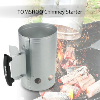 TOMSHOO BBQ Chimney Starter Charcoal Lighter Coal Starter CampingPicnic Outdoor Use