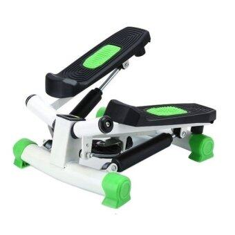 Harga Twister swing mini stepper with LCD counter and Resistancehydraulic buffer burning fat as jogging excercise (GREEN)