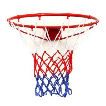 Wall Mounted Hanging Basketball Goal Hoop Rim Net Metal Sporting Goods Netting 45cm