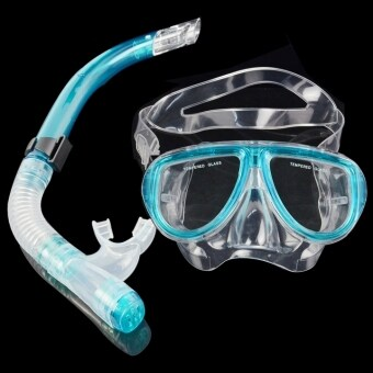 Yika Scuba Diving Mask + Dry Snorkel Gear Kit (Blue)