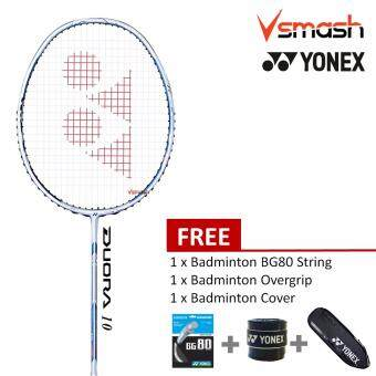Yonex Duora 10 (3U) Jewel Blue Badminton Racket Package