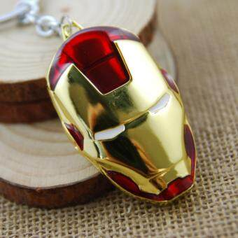 Harga 1pcs Super Hero Avengers Iron Man Mask Metal KeyRings Key ChainsPurse Bag Buckle Key Holder Keychains(OVERSEAS)